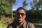 Anthony Joshua catches his first fish